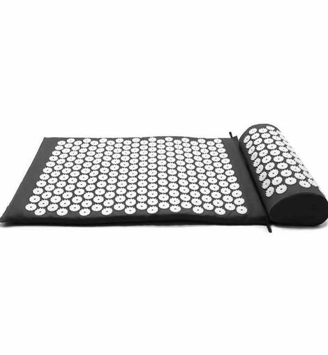 Yoga Cushion Acupressure Massage Mat Pain Relief Therapy - Black - The Marvellous Market Stall