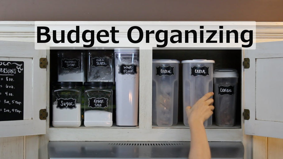 In this video I share budget kitchen organization ideas! How I used free items and Dollar Tree finds to organize our entire baking cupboard for UNDER $10.