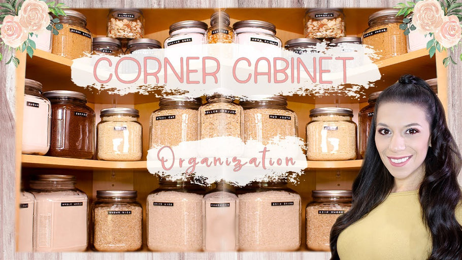 In this video, I share how I organized my corner kitchen cabinets using glass containers