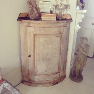 Stunning 19th Century French Corner Cabinet with original paint
