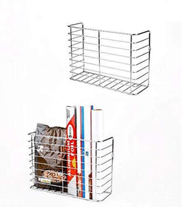 The best 2 pack wall door mount kitchen wrap organizer rack cabinet door pantry door wall mount kitchen storage organizer basket
