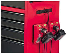 Load image into Gallery viewer, Discover the best heavy duty drawer 16 tool chest 46 in and rolling cabinet set red and black personal valuables storage drawer with separate lock in the tool chest