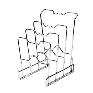 Best seville classics 4 tier pan pot lid rack kitchen counter and cabinet organizer 2 pack chrome