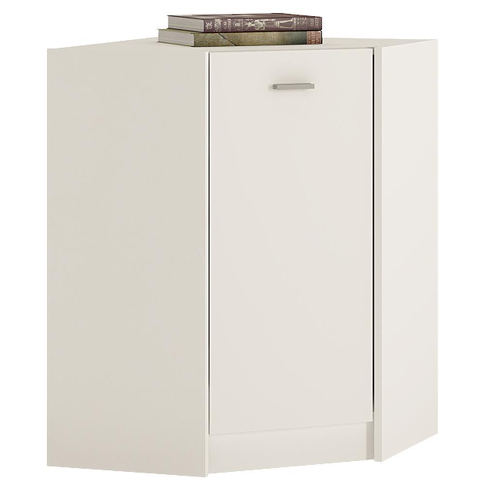 4You Corner Cabinet Pearl White