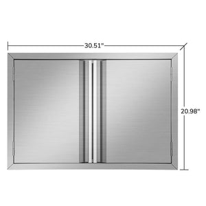 Purchase mornon bbq access door 304 stainless steel outdoor kitchen doors for grilling station outside cabinet barbeque grill 30 51 x 20 98inch