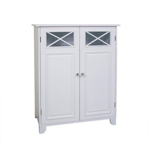 Heavy duty elegant home fashions 6841 dawson bathroom cabinet white