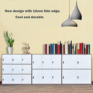 New 9 door metal locker office cabinet locker living room and school locker organizer home locker organizer storage for kids bedroom and office storage cabinet with doors and lock for cloth white