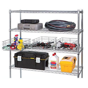 Products seville classics ultradurable commercial grade pull out sliding steel wire cabinet organizer drawer 14 w x 17 75 d x 6 3 h