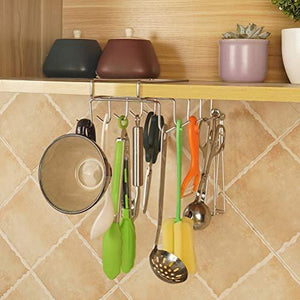 Order now wellobox coffee mug holder under cabinet cup hanger rack stainless steel hooks cup rack under shelf for bar kitchen storage fit for the cabinet