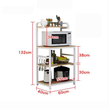 Load image into Gallery viewer, Order now shelf microwave oven storage rack kitchen tableware shelves counter and cabinet 4 layer white color white size 132cm