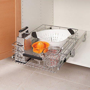 New seville classics ultradurable commercial grade pull out sliding steel wire cabinet organizer drawer 14 w x 17 75 d x 6 3 h