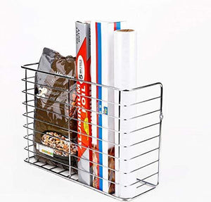 Top 2 pack wall door mount kitchen wrap organizer rack cabinet door pantry door wall mount kitchen storage organizer basket