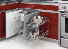 Load image into Gallery viewer, Rev-A-Shelf - Blind Corner Cabinet Pull-Out Chrome 2-Tier Wire Basket Organizer