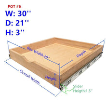 Load image into Gallery viewer, Purchase elysian roll wood tray drawer boxes kitchen organizers cabinet slide out shelves pull out shelf include 2 pack full extension side sliders 2 rear mounting brackets pot 6 30w x 21d