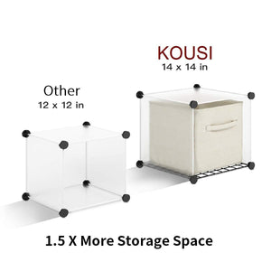 Online shopping kousi portable storage shelf cube shelving bookcase bookshelf cubby organizing closet toy organizer cabinet black no door 16 cubes