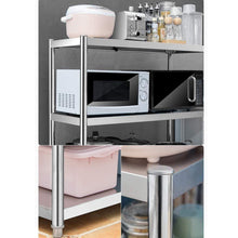 Load image into Gallery viewer, Discover the kitchen shelf stainless steel microwave oven rack multi function kitchen cabinet and cabinet rack storage rack 6 sizes kitchen storage racks size 10040118cm