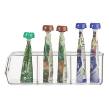 Load image into Gallery viewer, Storage organizer mdesign plastic food packet kitchen storage organizer bin caddy holds spice pouches dressing mixes hot chocolate tea sugar packets in pantry cabinets or countertop 8 pack clear