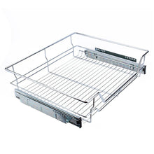 Load image into Gallery viewer, Kitchen gototop kitchen sliding cabinet organizer pull out chrome wire storage basket drawer for kitchen cabinets cupboards 20 3 17 35 3