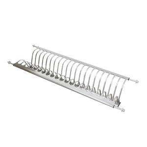 Best seller  modern 2 tier stainless steel folding dish drying dryer rack 900mm36 drainer plate bowl storage organizer holder for cabinet width 860mm34 875mm34 5