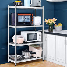 Load image into Gallery viewer, Buy kitchen shelf stainless steel microwave oven rack multi function kitchen cabinet and cabinet rack storage rack 5 sizes kitchen storage racks size 10040130cm