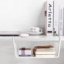 Load image into Gallery viewer, Exclusive homeideas 4 pack under shelf basket white wire rack slides under shelves storage basket for kitchen pantry cabinet
