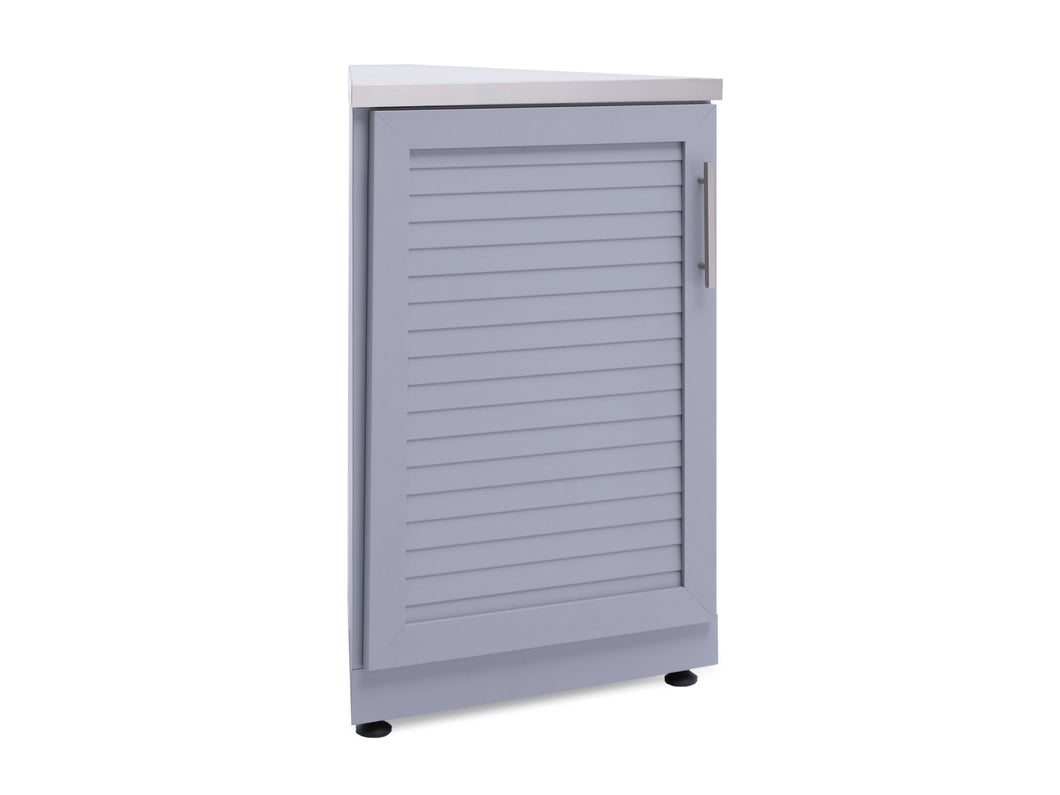 Outdoor Kitchen Aluminum 45 Degree Corner Cabinet