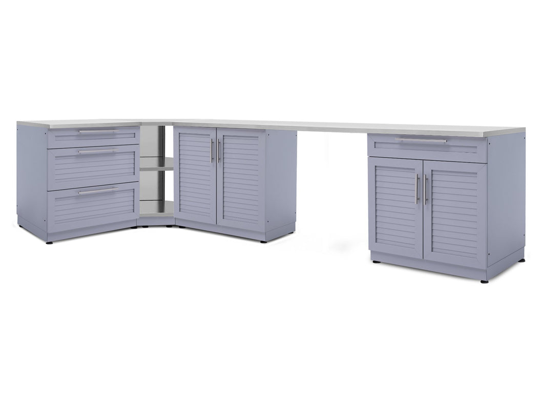 Outdoor Kitchen Aluminum 4 Piece Cabinet Set