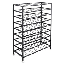 Load image into Gallery viewer, Results homgarden 54 bottle free standing deluxe large foldable metal wine rack cellar storage organizer shelves kitchen decor cabinet display stand holder