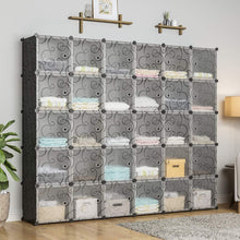 Load image into Gallery viewer, Buy now kousi cube organizer storage cubes organizers and storage storage cube cube storage shelves cubby shelving storage cabinet toy organizer cabinet black 30 cubes
