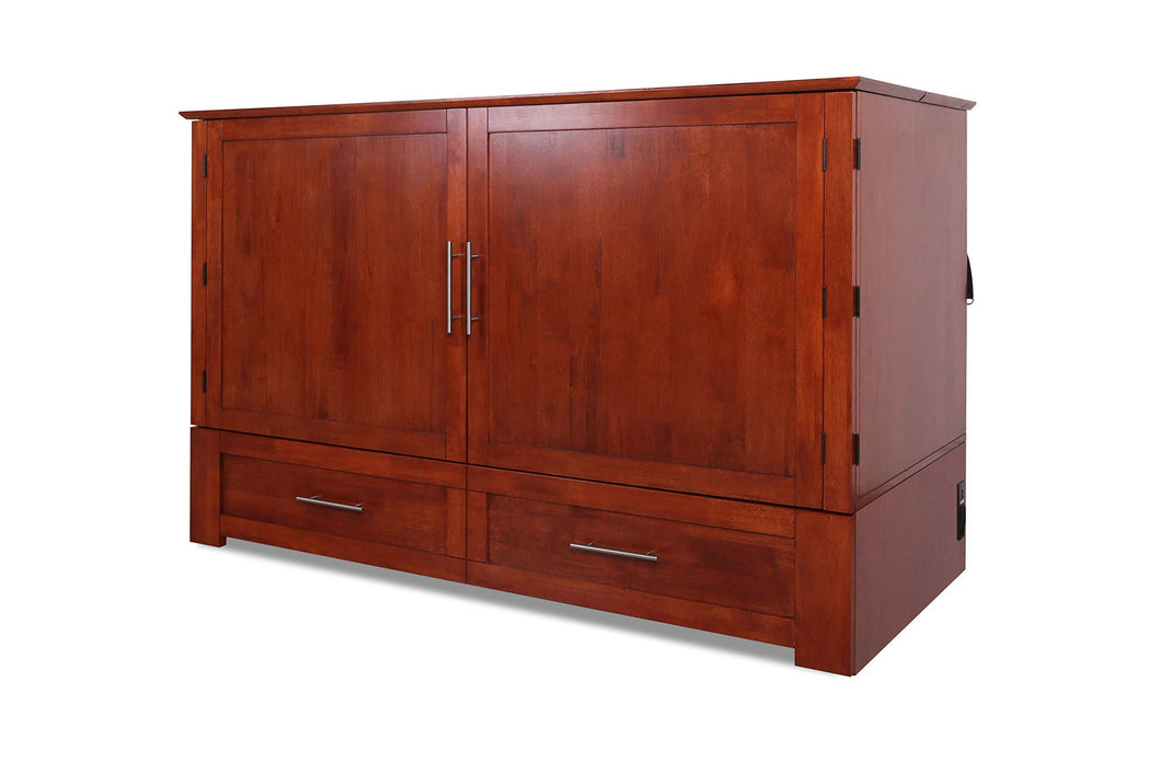 Results emurphybed com daily delight charging station gel infused mattress solid wood murphy cabinet chest bed queen cherry