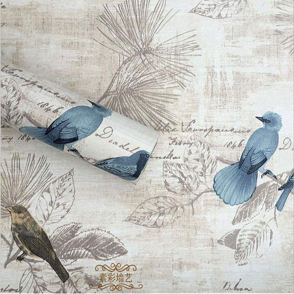 Products f u blue birds vinyl contact paper self adhesive shelf drawer liner wall stickers for home room wall decal cabinet arts and crafts 17 7 x 393 inch roll