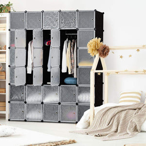 Buy now tangkula cube storage organizer cube closet storage shelves diy plastic pp closet cabinet modular bookcase large storage shelving with doors for bedroom living room office 30 cube