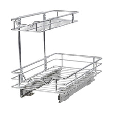 Load image into Gallery viewer, Discover the slide out cabinet organizer 11w x 18d x 14 1 2h requires at least 12 cabinet opening kitchen cabinet pull out two tier roll out sliding shelves storage organizer for extra storage