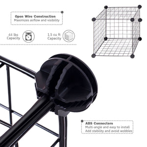 Selection unicoo multi use diy 12 cube wire grid organizer bookcase bookshelf storage cabinet wardrobe closet toy organizer wire cube storage black wire