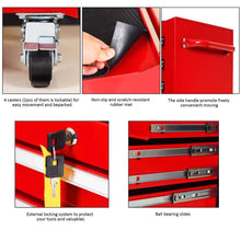 Load image into Gallery viewer, Buy goplus 30 x 24 5 tool box cart portable 6 drawer rolling storage cabinet multi purpose tool chest steel garage toolbox organizer with wheels and keyed locking system classic red