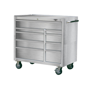 Results viper tool storage v412409ssr 41 9 drawer rolling cabinet 41 x 24 stainless steel