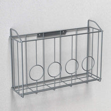 Load image into Gallery viewer, Explore nex over the cabinet door organizer cabinet storage basket for cutting board aluminum foil cleaning supplies silver