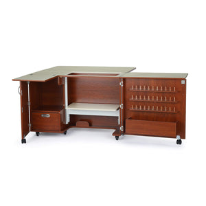 Try kangaroo kabinets wallaby 2 sewing cabinet teak