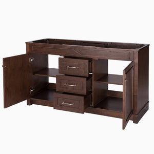 Results maykke abigail 60 bathroom vanity cabinet in birch wood american walnut finish double floor mounted brown vanity base cabinet only ysa1156001