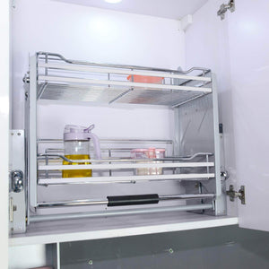 The best kitchen pull down 2 tier wire shelf shelves steel wall unit storage organizer system cabinet for 800mm width cupboards