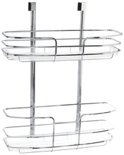 Load image into Gallery viewer, Budget lynk over cabinet door organizer double shelf w molded tray chrome