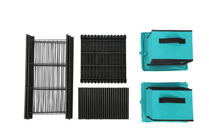 Order now homebi storage chest shelf unit 12 drawer storage cabinet with 6 tier metal wire shelf and 12 removable non woven fabric bins in turquoise 20 67w x 12d x49 21h