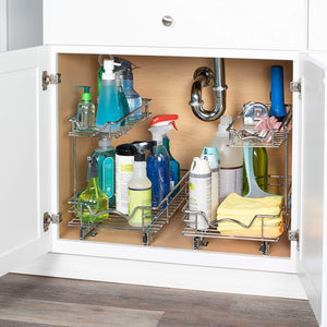 Buy now slide out cabinet organizer 11w x 18d x 14 1 2h requires at least 12 cabinet opening kitchen cabinet pull out two tier roll out sliding shelves storage organizer for extra storage
