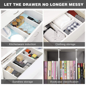 Latest favonian drawer dividers clothes divider multifunction dresser organizer spice organizers adjustable expandable rack for kitchen desk cabinet storage wardrobe clothing arrange 3 pcs pack