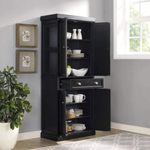 Load image into Gallery viewer, Shop for crosley furniture seaside kitchen pantry cabinet distressed black