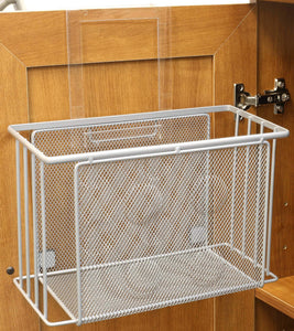 Shop decobros over cabinet door organizer holder silver