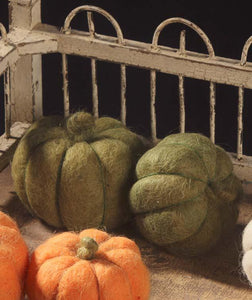 Green Wool Pumpkins
