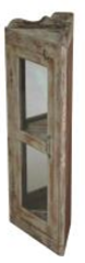 ALDER GLASS DOOR CORNER CABINET