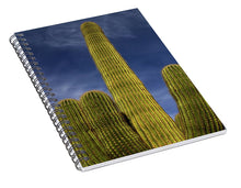 Load image into Gallery viewer, Blue Sky Saguaro - Spiral Notebook
