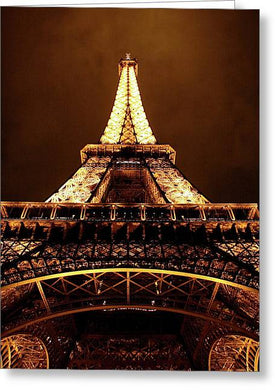 Eiffel Tower Glow - Greeting Card